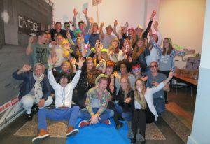 Team van Albert Heijn Koudekerk tijdens het 10 jarig jubileumfeest van Konincks Retail